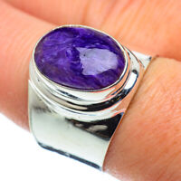 Charoite 925 Sterling Silver Ring Size 8.75 Ana Co Jewelry R49976F