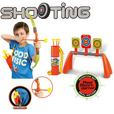 KIDS CHILDREN BOW AND ARROW ARCHERY SET OUTDOOR GARDEN TOY GAME TARGET BOARD