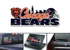 Chicago Bears Bumper Window Vinyl Decal 7x3