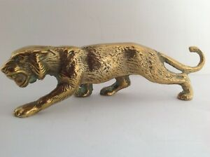 Solid brass tiger figure, heavy