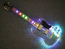 Pango Music Acrylic Body SG Electric guitar with colorful LED Light (PAG-019)