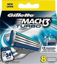 Gillette Mach3 Turbo Men's Razor Blades - w/ More Lubricating Gel Strip - 8 Pack
