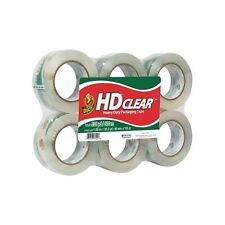 Duck Hd Clear Heavy Duty Packaging Tape Refill, 6 Rolls, 1.88 Inch x 109.3 Ya.