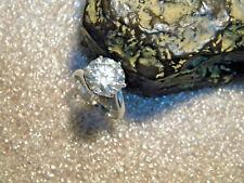 Moissa 00006000 nite .925 Silver Crescent Ring Size Us7 New listing 4.50 Ct. Vvs1 Def Brilliant White