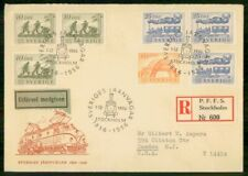 Mayfairstamps Sweden 1956 Railway Combo Registered Cover wwe_74169