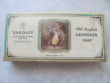 Vintage YARDLEY OLD ENGLISH LAVENDAR Soap Box + 1 Bar of Soap