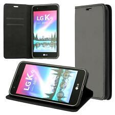 LG K4 (2017) Coque de Protection Carte Portefeuille Housse Etui Cover Case Noir