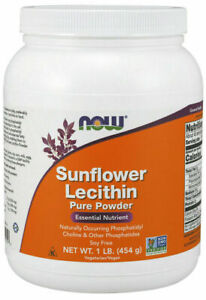 Now Foods, Sunflower Lecithin, 454g (1lb) Pure Powder NON-GMO Soyfree Value Size