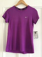 Ladies NIKE RUNNING Top Dri Fit  Size Small   Purple. UPF 40+