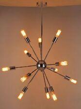 Loft Modern 12 Lights Silver Pendant Light Satellite Hotel Hanging Ceiling Lamps