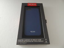 Tumi Genuine Coated Canvas Co-Mold Case For iPhone 8 iPhone 7 Blue New