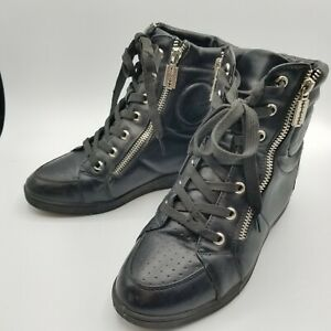 Red Dragonfly Black Boots - combat lace up - very Rare in USA 38 / US 7