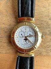 Philippe Charriol 750 Gold Columbus Chronograph Luxus Uhr Armbanduhr Gelbgold