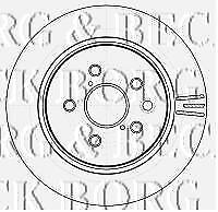 REAR  BRAKE DISCS PAIR FOR LEXUS GENUINE OE BORG & BECK  BBD4535