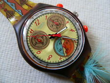 1994 Swatch watch chrono - chronograph Dancing Feathers SCO100