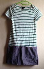 2c2a5f34157f MANGO MNG Kleid Blusenkleid GR. S Blau Weiss Grün Wie Neu Streifen