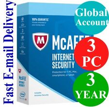 McAfee Internet Security 3 PC / 3 YEAR (Account Subscription) 2018