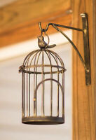 "GARDEN DECOR - ""SUMMER SONGBIRD"" WALL HANGING BIRD CAGE - BIRD HOUSE - BIRDCAGE"