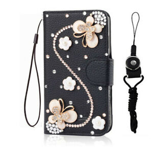 For Motorola Moto G PURE (2021) Bling flip Leather slots stand Wallet Case