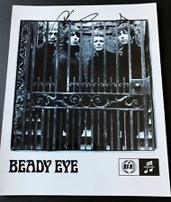 SIGNED CHRIS SHARROCK BEADY EYE PHOTO RARE LIAM GALLAGHER OASIS NOEL GALLAGHER