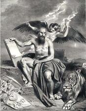 Lithographie originale de Boulanger, Saint-Marc
