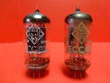 Pair Vintage TELEFUNKEN ECC83/12AX7 Germany Long Plates.Tested. Audio Guitar Amp