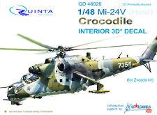 Quinta QD48026 1/48 Mi-24V Hind 3D-Printed&coloured interior for Zvezda kit