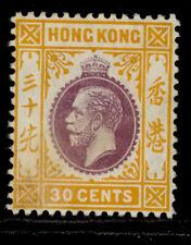 HONG KONG GV SG110, 30c purple & orange-yellow, M MINT. Cat £65.