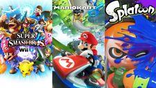 Nintendo Wii U Console 32 GB Nera + Mario Kart 8 + Splatoon + Super Smash Bros