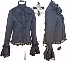 Gothic Lolita Victorian Visual Kei Strings Corset Blacks Beauty NOIR Shirt Top