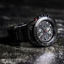 Brand New Michael Kors Men 43mm JetMaster Carbon Fiber Chronograph Watch MK8455