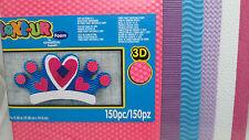 Kid's 3D Text-ure Foam Pack - Pink, Dk. Purple, Blue, Purple, White & Dk. Pink