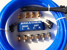 DIFF BREATHER KIT -  with CNC Billet Anodised Block! Jeep, Nissan, Hilux