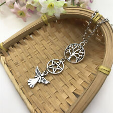 Angel and Pagan Wiccan Pendant Necklace Tree of Life Witch Guardian Angel*