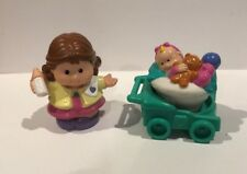 Fisher Price Little People Family Mom Baby Stroller