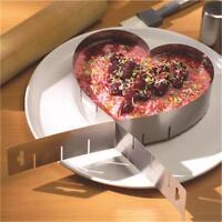 Adjustable Heart Shape Ring Mold Stainless Steel Cakes Pastry Cutter W