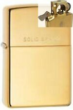Zippo 254 high polish solid brass Lighter with PIPE INSERT PL