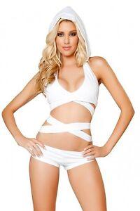 GoGo Shorts Set weiss Gr.34-38 Top mir Kapuze Shorts Made in USA NEU JValentine