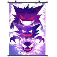 "Hot Japan Pokemon Gengar Pocket Anime Home Decor Poster Wall Scroll 8""x12"" FL966"