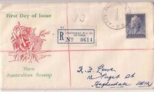 Stamp Australia 1955 QE2 1/-&1/2d blue on Haslem Koala in Tree Generic FDC