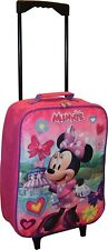 "Disney Minnie Mouse 15"" Collapsible Wheeled Pilot Case - Rolling Luggage"
