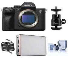 Sony Alpha a7S III Mirrorless Digital Camera Body with LED Light  Accessories