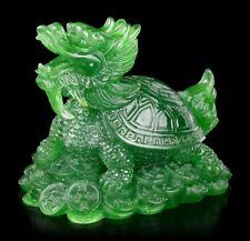 Feng Shui Figura - dragones Tortuga Colores de Jade - AMULETO DE LA SUERTE