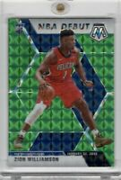 2019-20 Panini Mosiac Zion Williamson RC NBA Debut #269 Green Prizm Refractor