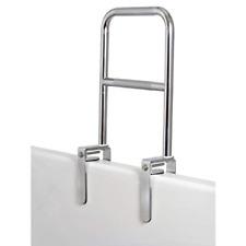Carex Dual Level Bathtub Rail Chrome Finish Heavy Duty Bathtub Grab Safety Bar