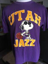 Vintage Size M Snoopy Joe Cool Peanuts Utah Jazz Purple T-Shirt