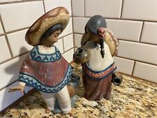 Mexican Water Boy & Girl figurines marked Lladro Daisa 1984