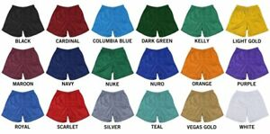 """Men's Shorts Double Layer Mesh Athletic Fitness Workout Gym 7"""" Short Inseam"""
