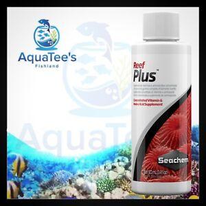 Seachem Reef Plus 100ml Broad Spectrum of Vitamins Minerals & Aminos Marine Fish