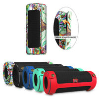 Portable Carrying Sleeve Cover Case w/ Carabiner for JBL Flip4 Bluetooth Speaker